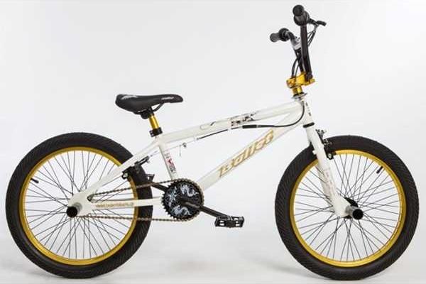 BULLET Bora BMX white-yellow